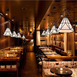 cuisine industrielle moderne Promotion Fer moderne peint lustres industriels E27 diamant lustre LED 220V éclairage pour salon cuisine chambre bar hôtel