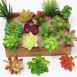 Plantas de cactos de plástico on-line-Mini Plástico Artificial Suculentas Spray Cor Cactus Imitação Flor Indoor E Ao Ar Livre Longevidade Planta Em Vasos Decorar Bonito 1 5wxb1