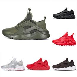 Chaussures hommes boutique en Ligne-Nike air huarache Usine boutique en ligne en gros unisexe Huarache 4 chaussures de course hommes femmes de bonne qualité baskets baskets Huarache baskets
