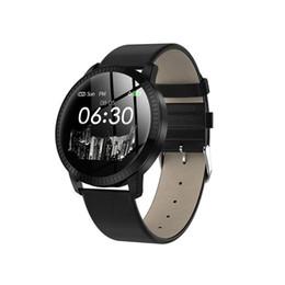 monitor di mele Sconti CF18 Smart Watch OLED Schermo a colori Smartwatch Fashion Fitness Tracker Monitor per la misurazione della pressione arteriosa per uomini donne