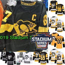 96cca2072 2019 Stadium Series Pittsburgh Penguins 87 Sidney Crosby Kris Letang Casey  DeSmith Hornqvist Phil Kessel Jake Guentzel Evgeni Malkin Jersey