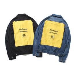 vêtements chauds Promotion Fashion-Hot vente Designer hommes Femmes Manteau Denim Veste Hommes Hip Hop Slim streetwear occasionnel Vintage Mens jean vêtements Tops