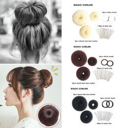 Haare puffs zubehör online-Hair Puff Donut Styling Werkzeuge Gummiband U Clip Multi Funktion Mädchen DIY Magic Hair Bun Maker Bequem Zubehör