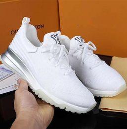 Фирменные мужчины VNR дышащие вязаные повседневные кроссовки домашняя обувь мода мальчик на шнуровке блестящий эффект резиновая подошва обувь от
