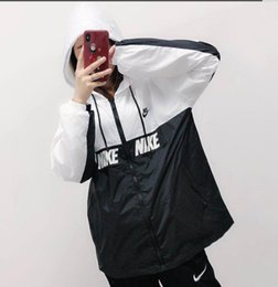rebeca de spandex Rebajas Cartas de estilo de explosión: chaqueta cortavientos chaqueta para hombres y mujeres nueva moda chaqueta blanca y negra letra abrigo tamaño S-2xL