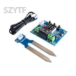 10 unids XH-M214 Controlador de Humedad Módulo de Sensor de Suelo RH Control Automático Sistema Informático Rojo Módulo de Pantalla Digital envío gratuito desde fabricantes