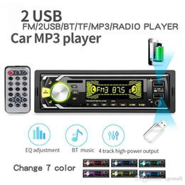Плеера mp4 онлайн-2019 Новые продукты Bluetooth Авторадио автомобиля стерео радио FM Вход Aux Приемник SD USB 12V В тире 1 DIN Автомобильный MP3 мультимедийный проигрыватель