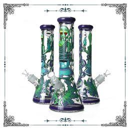 Gafas online-Nuevo diseño 9 mm Bong ET Art Glass fumar tubos de agua Heady Glass Hookah Pipe Bongs 12.5 pulgadas envío gratis