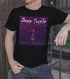 Camice di velluto viola del manicotto del manicotto online-Deep Purple Sopra e rock maglietta Oltre uomo T-shirt Nero S-3XL Abito nuovo Mens Primavera Estate manica corta casuale