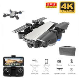 Drones gps online-Drone GPS con cámara 4K Drones plegables con Ajuste de la cámara de HD 50x zoom gran angular WIFI FPV RC Quadcopter profesional para adultos 1080p