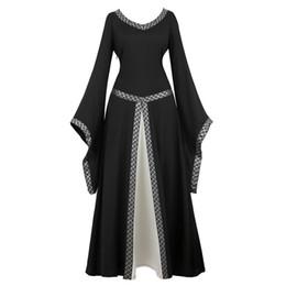 2019 viktorianisches renaissancekleid Womens Deluxe mittelalterlichen viktorianischen Kostüm Renaissance mittelalterlichen Kleid Kostüme Irish Over Cosplay Retro Kleid Kostüm langes Kleid rabatt viktorianisches renaissancekleid