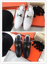 f39d91a91c Baixo-chave de calçados femininos de luxo Importado couro de fábrica  original Italiano solas de couro importado chinelos mid-heel da senhora da  moda