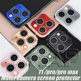 película de color iphone Rebajas Anillo de la lente de colores Cámara trasera de cristal templado para Iphone 11 Pro Max Huawei mate 30 Pro protector de la película protectora de metal de la aleación de teléfono