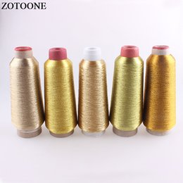 floss machine Promo Codes - ZOTOONE 3500M Roll DMC Floss Metallic Embroidery Gold Threads For Sewing Craft Machine DIY Sewing Fabric Accessories For Clothes