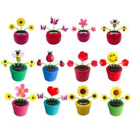 Flip Flap Solar Powered Flower Flowerpot Swing Dancing Toy Novelty T1