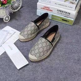 Leinen für damen online-2019 High-End-Version von faulen Schuhe Stroh Leinen schreibt nicht ein Pedal Sommer atmungsaktive Damen einzelne Schuhe
