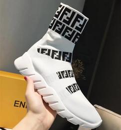Deutschland Neueste Branded Männer Strech Stoff Sneakers Stiefel Designer Brief Frauen Dicke Gummi Außensohle Hohe Schneeschuhe cheap snows rubber boots Versorgung