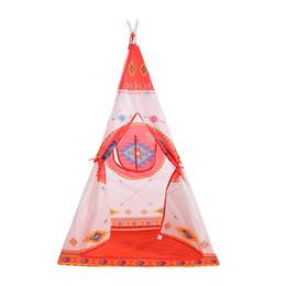 baby pop up tende Sconti bambini all'ingrosso casa di plastica per bambini tenda casette stile indiano pieghevole giocattolo per bambini casa yurta gioco casa tipi enfant # y2