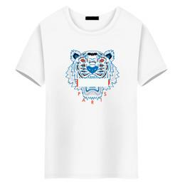 Майка тигр моды онлайн-2019 модная марка роскошные топы дизайнер футболки для мужчин женская футболка женская одежда одежда тренажерный зал спортивные костюмы футболка голова тигра