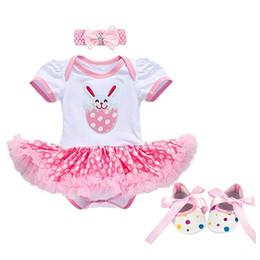 Fée bébé 3Pcs nouveau-nés filles de Pâques tenue tenue oeufs de lapin barboteuse Body Tutu robe définie ? partir de fabricateur