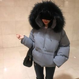 2020 coreano design casacos de inverno Brasão Collar VANOVICH 2018 coreano Inverno Novo Design Camisa Jaqueta Parka do inverno da forma das mulheres quentes de espessura Big Fur desconto coreano design casacos de inverno