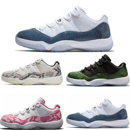2019 neue 11 marineblau rosa Schlangenleder Basketballschuhe Bred Concord Georgetown Space Jam GG 11s Chaussures de Korb Mit Box von Fabrikanten