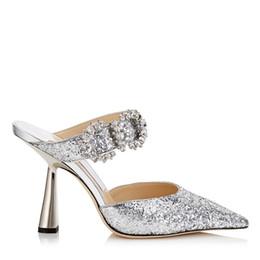 Paillettes scintillantes dentelle chaussures de mariage rouge designer confortable nuptiale chaussures à bout pointu chaussures pour la soirée de mariage de bal de fin d'année ? partir de fabricateur