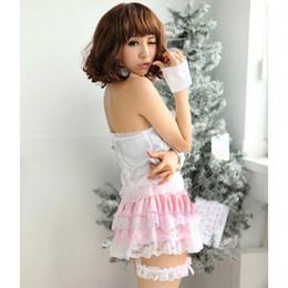 Tentação uniforme japonês on-line-Lingerie Sexy Japonês Sexy Maid Wear Cos Role Playing Maid Costume Dress Pijamas Cosplay Uniform Tentação Frete Grátis