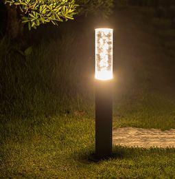2020 luzes de amarração Thrisdar Acrílico Bubbles Pole Pillar Lawn lâmpada Jardim Paisagem Lawn Luz Villa Pathway pe Post Light Pátio Bollard Luz LFLA desconto luzes de amarração