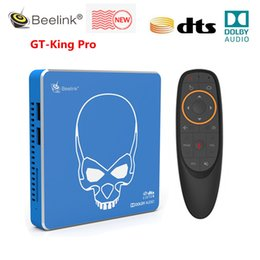 Аудио коробка онлайн-Новое поступление BEELINK GT-KING PRO HI-FI HI-FI LOVESLEST SOUND TV BOX с Dolby Audio DTS Прослушать Amlogic S922X-H Android 9.0 4GB 64GB Drop Dross