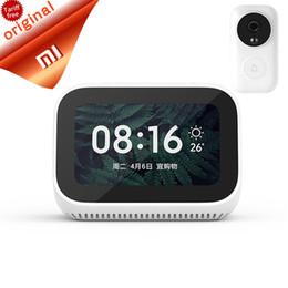 Дешевый дистанционный пульт дистанционного управления bluetooth онлайн-Дешевые Смарт-Пульт Дистанционного Управления Оригинальный Xiaomi AI Сенсорный Экран Bluetooth 5.0 Цифровой Дисплей Будильник Wi-Fi Smart Connection Speaker Mi