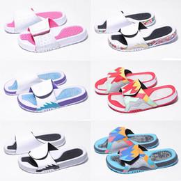2019 Jumpman 11 Hydro XI Баскетбольные Тапочки Мода Спорт Женщины Мужская Тапочка Высокое качество 11 s Белый Фиолетовый дизайнер шлепанцы Размер 36-47 от