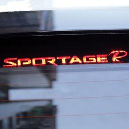 2019 accessoires pour kia Décorer Accessoires lumière de frein en fibre de carbone 3D autocollant lumières de frein décoration autocollants pour Kia Sportage R 2011 Pour 2015 Car-Styling promotion accessoires pour kia