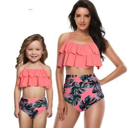 ropa de aspecto familiar Rebajas Traje de baño de la madre y la hija Traje de baño de mamá Conjuntos de bikini Ropa de brachas Mirada Mamá Vestidos para bebés Ropa Trajes a juego de la familia