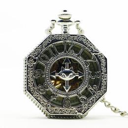 Orologi meccanici a vento online-Steampunk Pocket Watch Orologio da donna Wind Up meccanico a mano Wind Smooth Silver Pendant White Dial Semplice ed elegante