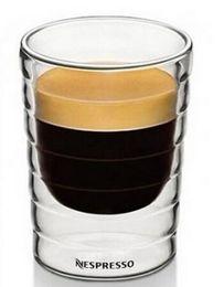 Gros-6pics / lot, tasse de café 85ml, Nestlé Nespresso SA, double tasse en verre de mur Tourné Coupe en verre Ware potable Accueil Beer Bar Wine Party ? partir de fabricateur