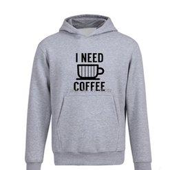 café à capuche Promotion Printemps Automne New I Need Coffee Men Hoodie Hip Hop Casual polaire capuche drôle imprimé Sweat coton Streetwear