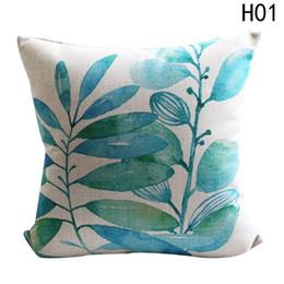 almofadas tropicais Desconto 2018 Cactus Cushion Covers Assento Da Folha Decorativa África Tropical Planta Poliéster Travesseiro Cobre Home Decor