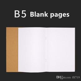 блокнот b5 Скидка B5 Крафт ноутбук бумаги ручной копирования обложка блокноты пустой стежка Блокнот крафт обложка блокноты ежедневная бумага журнал канцелярские