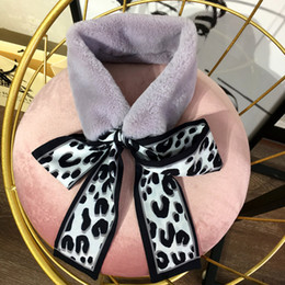 south korea popular jewelry Promo Codes - Rabbit hair chiffon scarf fashion popular bow scarf pop South Korea Dongdaemun warm small scarf jewelry