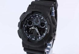 Ver gas online-con estuche, el último modelo de reloj ga100 ga 100, reloj de pulsera clásico relogio reloj de pulsera, estuche de relojes LED