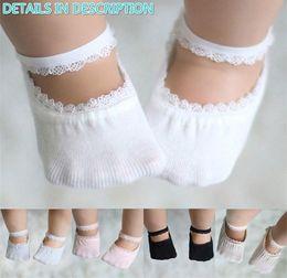 Calzini neonati calzini online-Calzini estivi in pizzo di cotone Calzini neonato in bambine Calzini principessa bambina Calzini alla caviglia Calzini per bambini