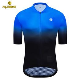 Maillot cyclisme manches courtes en Ligne-YKYWBIKE Vélo Jersey 2019 Hommes Été À Manches Courtes Custom Design Vélo Vélo Vêtement Ropa Maillot Ciclismo Racing Vélo Vêtements
