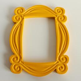 Mon Quadro TV Série Amigos Handmade Monica Porta de madeira amarela Photo Frames Collectible Home Decor Gift Collection de Fornecedores de molduras para casamentos