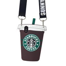 starbucks para iphone Rebajas Para Iphone Xr Xs Caja del teléfono Max Starbucks Taza de café Cordón 6 7 8 X Plus Todo incluido Fundas de silicona para teléfono celular suave