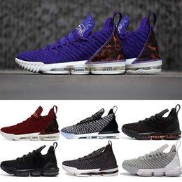 new style 5556e aa22b schwarze lebron schuhe Rabatt lebron james 16s Basketballschuhe 16 King  Court Purple Oreo FRISCHE BRED Triple