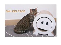 Scratcher Smiley Gordo Cat Bed Papel Papelão de Alta Qualidade Brinquedo Do Gato Coçar Almofada de
