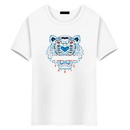Diseñador de la marca opcional de los hombres de moda de manga corta de algodón chaqueta absorbente del sudor ropa de verano diseñador cuello redondo Tiger head Tees Top desde fabricantes