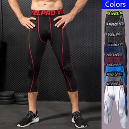 5d05e7d73cbf0 Man Jogger Sports Pants Running Training Elastic Cropped Leggings Trousers  Man Flash Drying Sweat Absorption Fitness Tights Gym Capri Pants