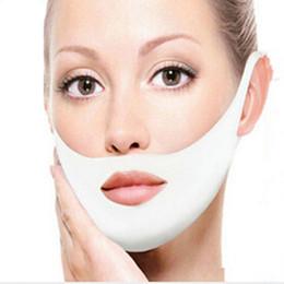 Mascarilla facial online-Facial Máscara facial delgada Vendaje adelgazante Forma de cinturón Elevación Reducir Doble mentón Máscara facial Banda de adelgazamiento facial